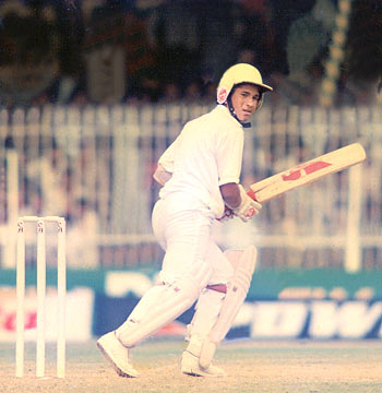 Sachin Ramesh Tendulkar makes his debut against Pakistan